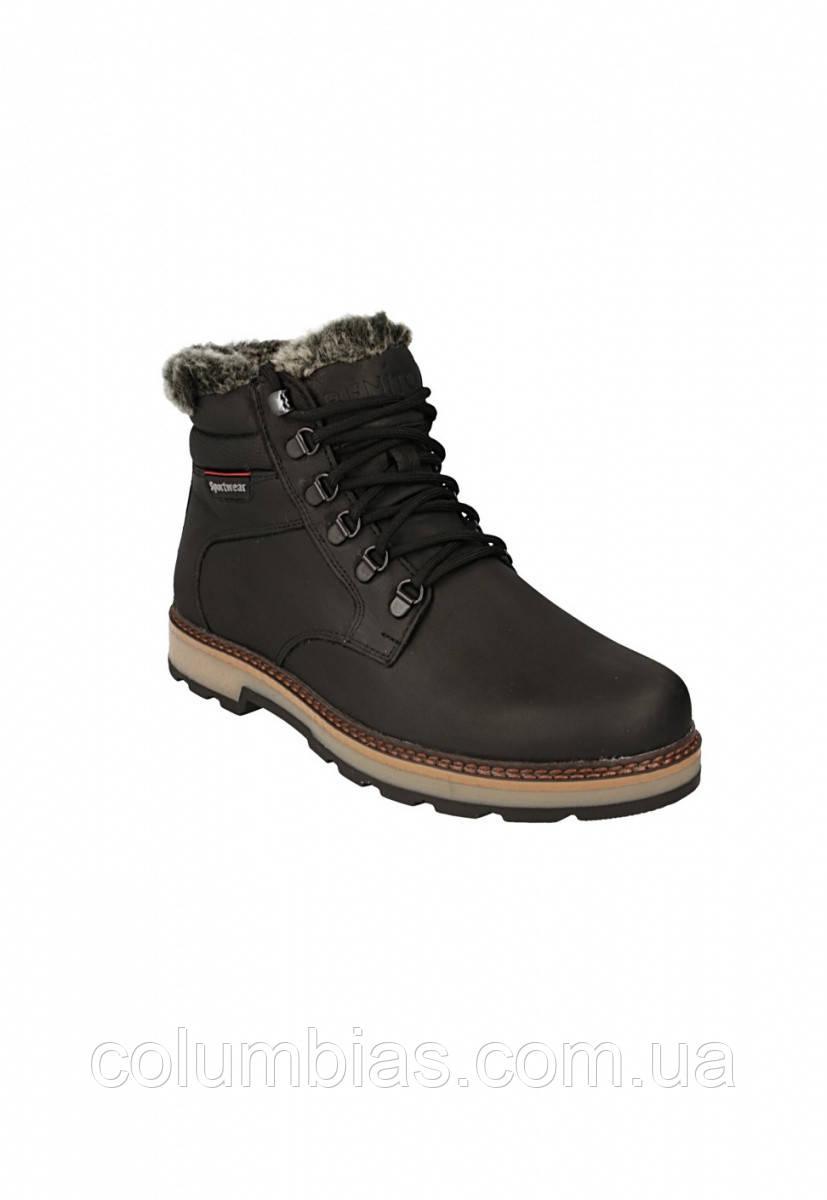 Зимові шкіряні черевики на овчині boots shoes