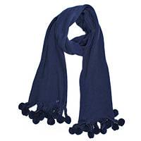 Вязанный женский шарф Синий