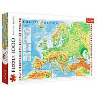 """Пазл """"Физическая карта Европы"""", 1000 элементов Trefl (5900511106053)"""