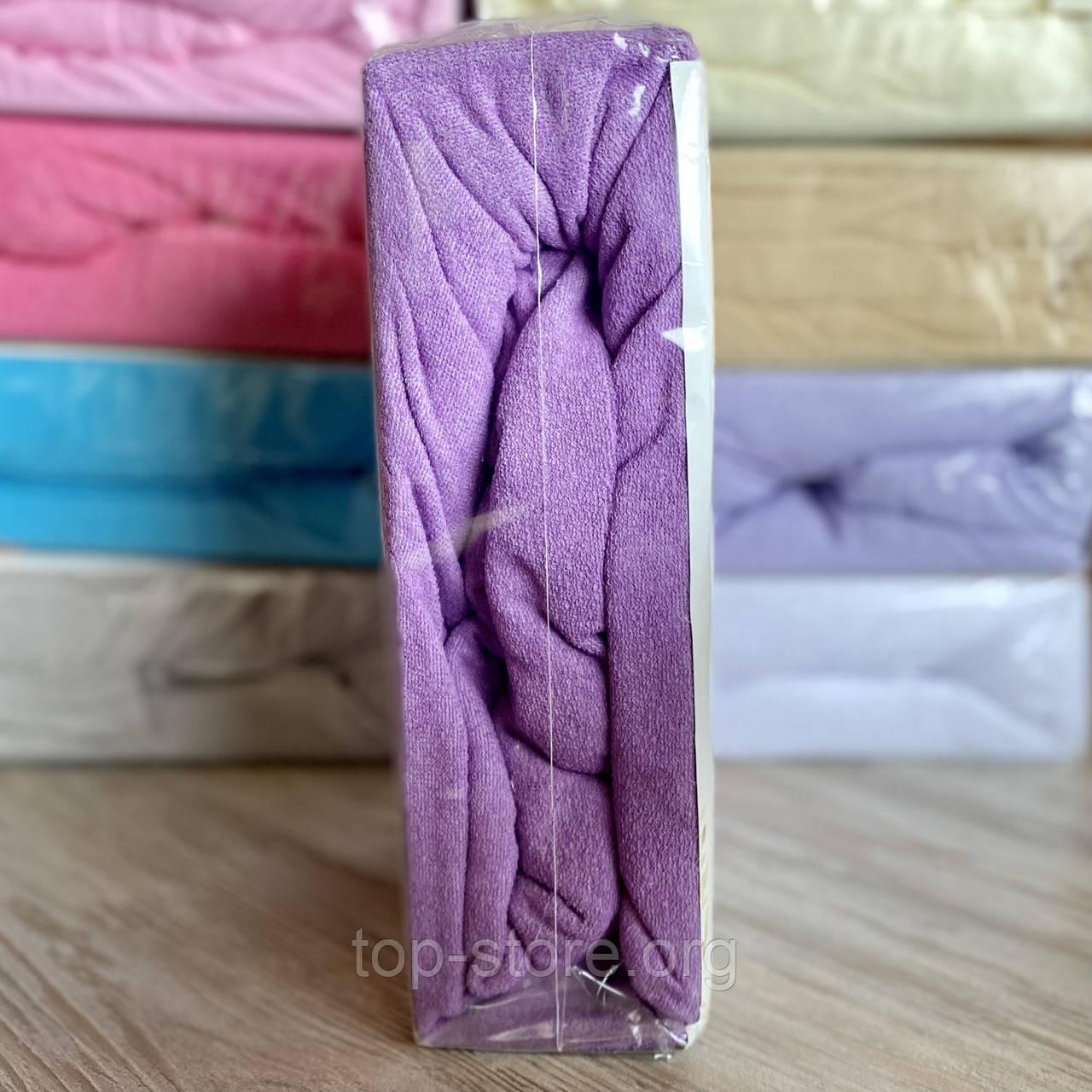 Простирадло махрова на резинці універсальний розмір 230х250см VISION Premium Туреччина Колір - Фіолетовий 100% Бавовна