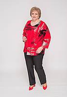 """Блуза червоного кольору """"Чумацький шлях"""""""