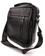 Сумка через плечо мужская кожаная Tiding Bag A25-0A черная