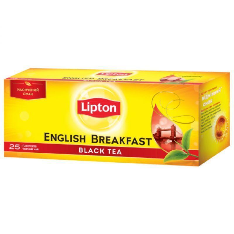 Чай Lipton чорний Англійський Сніданок 25 пакетиків