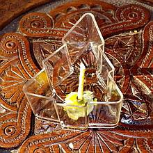 Набор для изготовления чайной свечи Ёлочка (контейнер чайной свечи, фиксатор фитиля, фитиль)