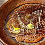 Набор для изготовления чайной свечи Ёлочка (контейнер чайной свечи, фиксатор фитиля, фитиль), фото 2