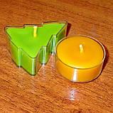 Набор для изготовления чайной свечи Ёлочка (контейнер чайной свечи, фиксатор фитиля, фитиль), фото 7
