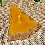 Набор для изготовления чайной свечи Ёлочка (контейнер чайной свечи, фиксатор фитиля, фитиль), фото 6