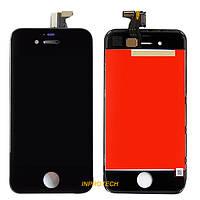 Дисплей (LCD) Apple iPhone 4G с сенсором и рамкой Black