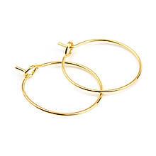 Металлическое кольцо соединительное разъемное один виток 20 мм золото для рукоделия