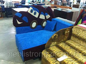 Детский диван с нишей для ребенка Сигнал - синий цвет