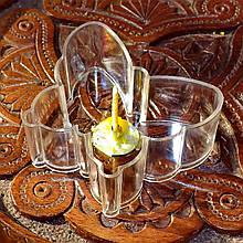 Набор для изготовления чайной свечи Бабочка (контейнер чайной свечи, фиксатор фитиля, фитиль)