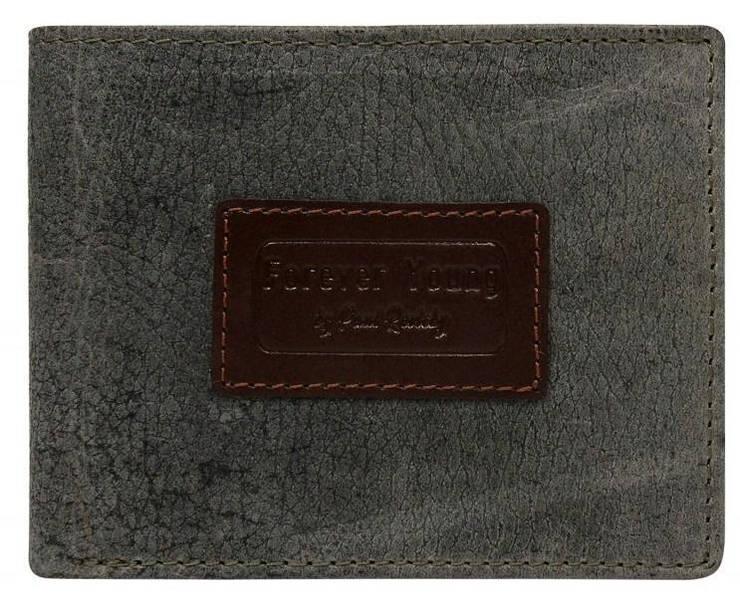 Кожаное мужское портмоне ALWAYS WILD N992VTP серое, фото 2