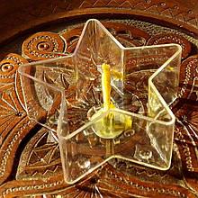 Набор для изготовления чайной свечи Звезда (контейнер чайной свечи, фиксатор фитиля, фитиль)