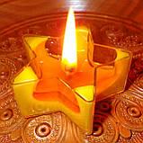 Набор для изготовления чайной свечи Звезда (контейнер чайной свечи, фиксатор фитиля, фитиль), фото 8