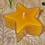 Набор для изготовления чайной свечи Звезда (контейнер чайной свечи, фиксатор фитиля, фитиль), фото 6