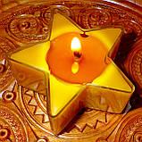 Набор для изготовления чайной свечи Звезда (контейнер чайной свечи, фиксатор фитиля, фитиль), фото 7