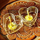 Набор для изготовления чайной свечи Валентинка (прозрачный контейнер чайной свечи, фиксатор фитиля, фитиль), фото 2