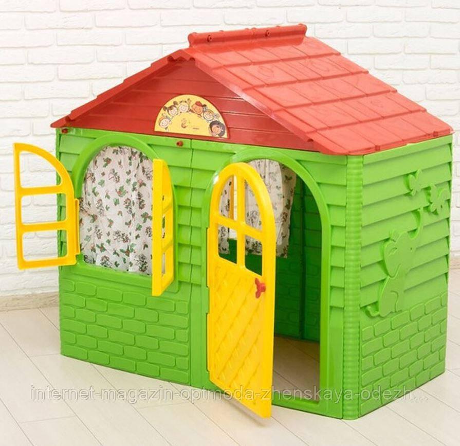 Стильный детский Игровой домик со шторами