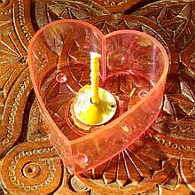 Набор для изготовления чайной свечи Валентинка (розовый контейнер чайной свечи, фиксатор фитиля, фитиль)