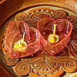Набор для изготовления чайной свечи Валентинка (розовый контейнер чайной свечи, фиксатор фитиля, фитиль), фото 2
