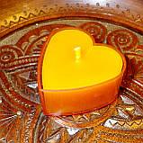 Набор для изготовления чайной свечи Валентинка (розовый контейнер чайной свечи, фиксатор фитиля, фитиль), фото 6