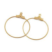 Металлическое кольцо разъемное один виток 26 мм золото из нержавеющей стали для рукоделия