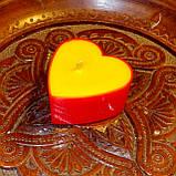 Набор для изготовления чайной свечи Валентинка (красный контейнер чайной свечи, фиксатор фитиля, фитиль), фото 6