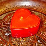 Набор для изготовления чайной свечи Валентинка (красный контейнер чайной свечи, фиксатор фитиля, фитиль), фото 7