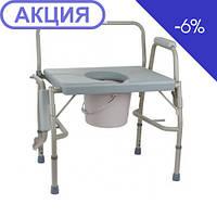 Стул-туалет с откидным подлокотником усиленный -BL740101 (высота: 50-60) (OSD)