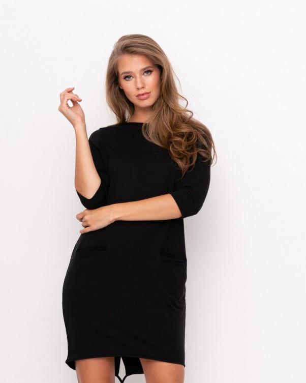 Платья ISSA PLUS 9011  S черный