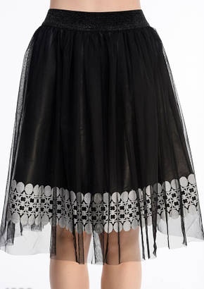 Юбки ISSA PLUS 4329  S черный, фото 2