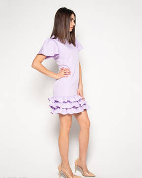 Платья ISSA PLUS 10362  S сиреневый, фото 2