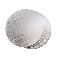 Підкладка для торта кругла золотого і срібного кольору Ø 360 мм (уп 20 шт)