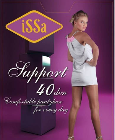 Колготки ISSA PLUS Support 40  2 черный, фото 2