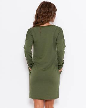 Платья ISSA PLUS 10188  XXL хаки, фото 2