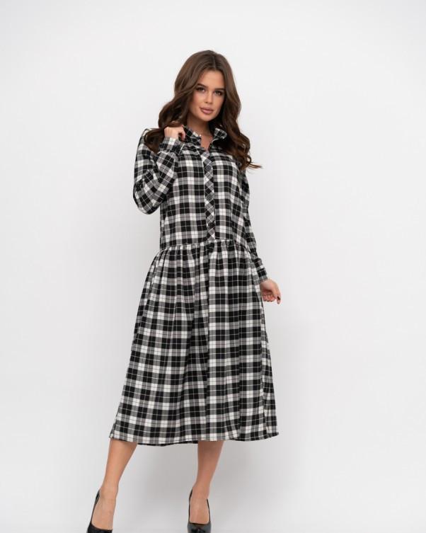 Платья ISSA PLUS 11185  S черный/белый