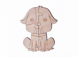 Дерев'яна Пазл Собака №1/ Деревянная модель Пазл Собака №1
