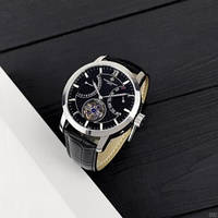 Мужские механические часы класса ААА  Vacheron Constantin Geneve Silver-Black
