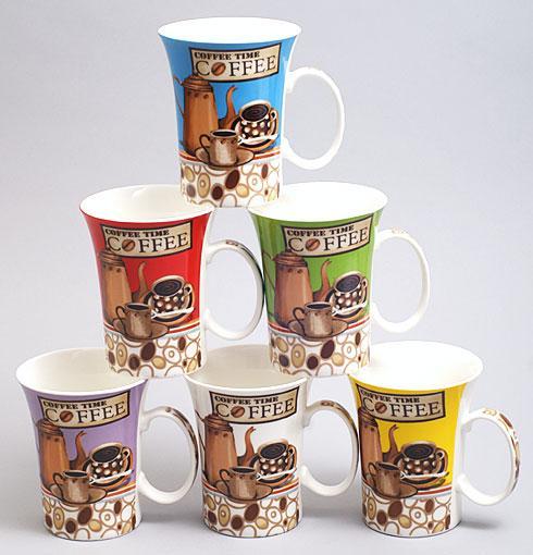 Кружка фарфоровая Coffee Time 380мл, 6 видов BonaDi 248-C12