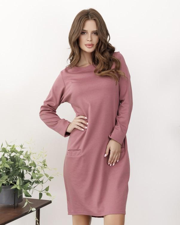 Платья ISSA PLUS 12147  S темно-розовый