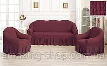 Чехлы Турецкие на диван + кресла | Дивандеки на диван и кресла | Накидки на диван и кресла |Цвет Грязно розовы