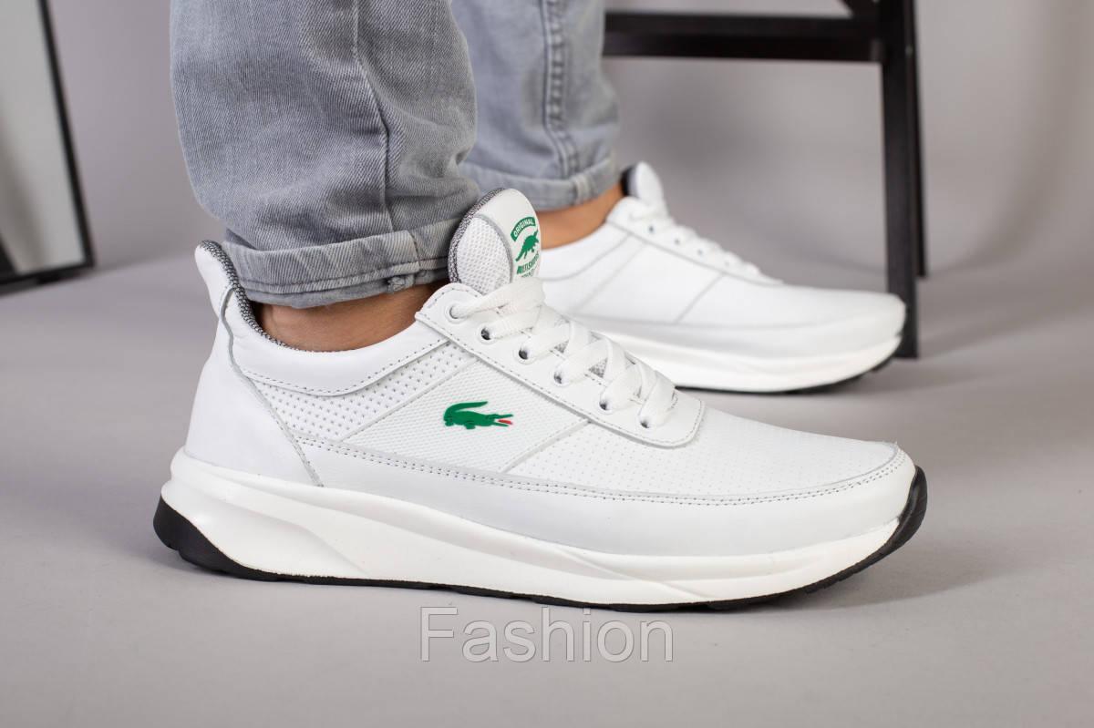 Кросівки чоловічі шкіряні білі