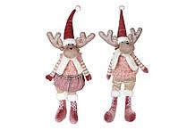 Мягкая декоративная игрушка Олени, 2 вида, 64см, цвет - розовый BonaDi 835-108
