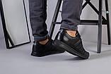 Чоловічі шкіряні чорні кросівки 40, фото 2