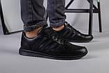 Чоловічі шкіряні чорні кросівки 40, фото 3