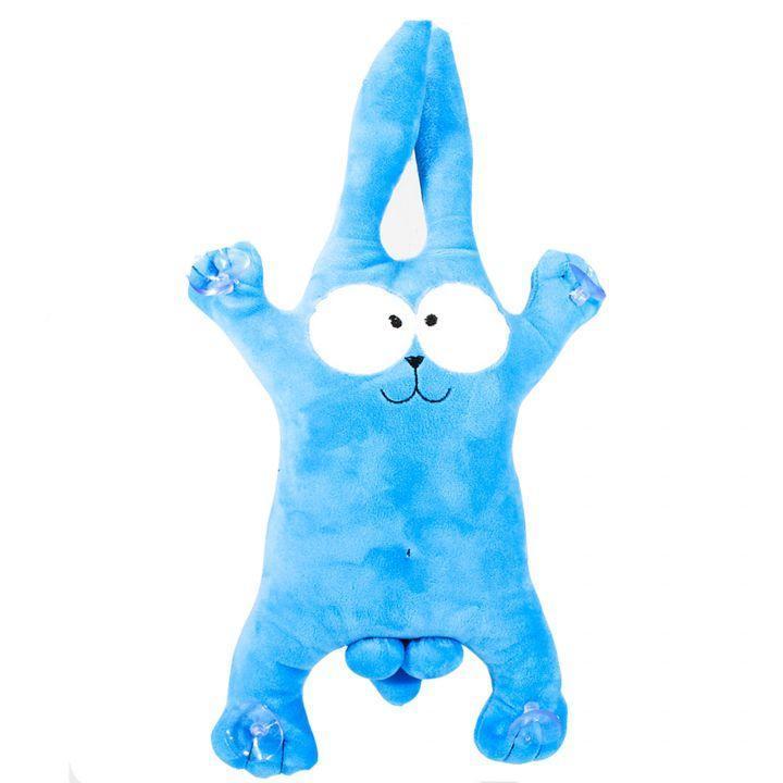 Смешной плюшевый сувенир заяц синий
