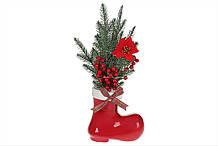 Декоративная композиция Сапожок с LED подсветкой 37см, цвет - красный BonaDi 923-240