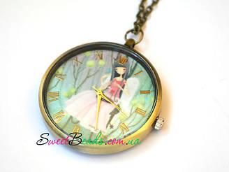 Годинник Аліса в саду, бронза