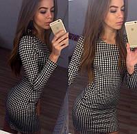 """Стильное молодежное платье мини """" Гусиная лапка """" Dress Code"""