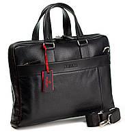 Портфель сумка Eminsa 7108-37-1 из мягкой кожи черный
